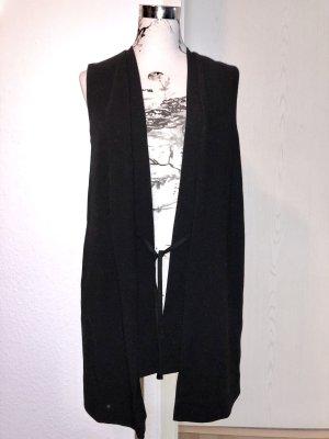 esprit collection Lang gebreid vest zwart