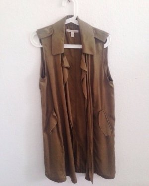 Lange Weste Trenchcoat Mantel Zara trf Khaki Army