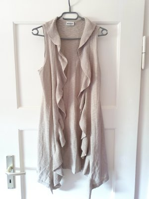 Street One Long Knitted Vest oatmeal