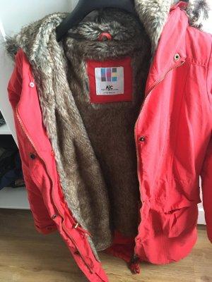 AJC Winter Jacket brick red mixture fibre