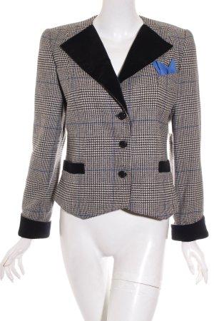 Lange Woll-Blazer schwarz-hellbraun Casual-Look