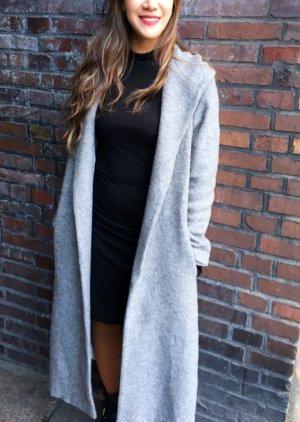 Lange Wollemischung Grauner Mantel H&M