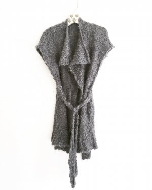 Vintage Coarse Knitted Jacket grey