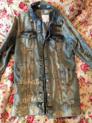 Lange Zara Jeans Jacke