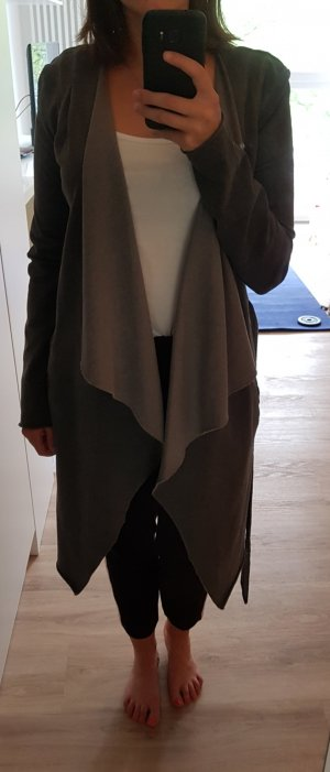 Langer asymmetrischer Sweat Cardigan | Gr.M | grau