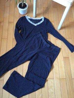 Langer Baumwolle-Pyjama