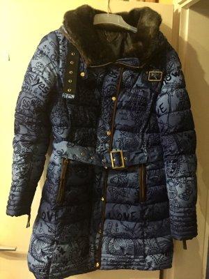 Langer, blauer Mantel von Desigual