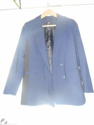 Langer Blazer in dunkelblau von H&M, Größe 36
