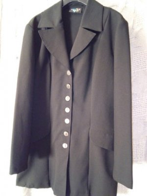 langer Blazer, kurzer Mantel, witzige Knöpfe, schwarz, Tally Weijl, Gr. 36 38