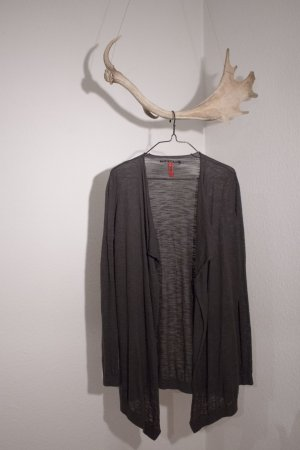 QS by s.Oliver Cardigan gris anthracite