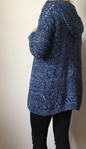 langer Cardigan / Grobstrickjacke blau von Abercrombie & Fitch
