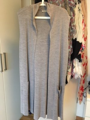 Langer Cardigan in Grau