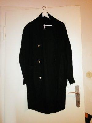 Blazer long noir coton