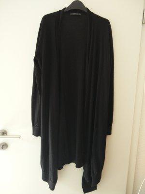 Langer Esprit- (Woll-)Cardigan / Mantel in Schwarz