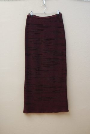 Marc Cain Knitted Skirt brown violet-black cotton