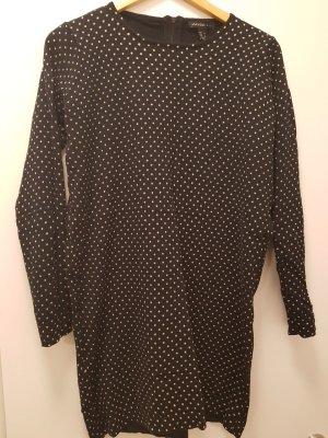 langer, gepunkteter oversized Pullover, schwarz, Mango