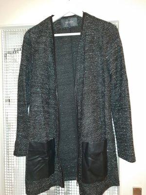 Manguun Cardigan in maglia nero-argento