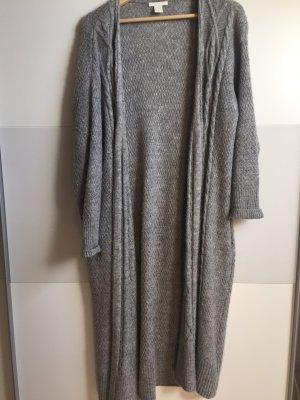 Langer grauer Cardigan zu verkaufen