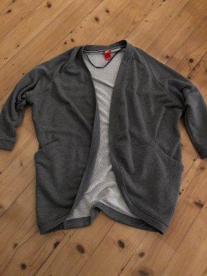 Langer grauer Sweatcardigan von Nike Gr. L