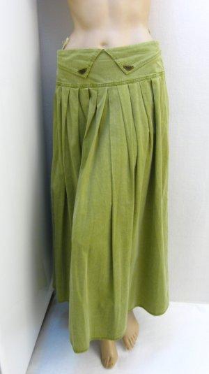Jupe en jeans vert olive coton