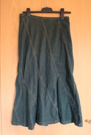 Langer Jeansrock, super kultig S Gr. 36 wieder angesagt