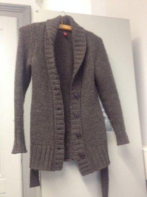 Esprit Manteau en tricot gris foncé-gris
