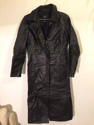 langer Ledermantel von GAP, Farbe Schwarz, Größe S (kleine S)