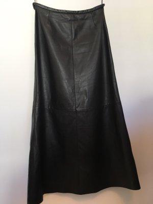 Langer Lederrock schwarz