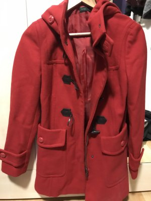 United Colors of Benetton Cappotto con cappuccio rosso