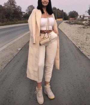 Abrigo largo beige claro