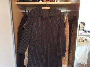 Langer Mantel in Streifenoptik sehr edel H&M Gr. 36