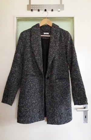 Langer Mantel schwarz weiß Gr. XS