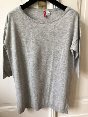 H&M Divided Pull oversize gris clair coton