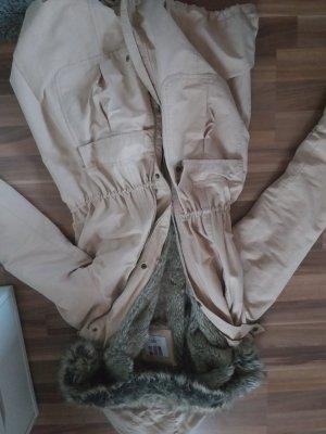 AJC Fake Fur Coat oatmeal cotton