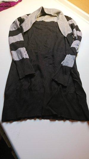Maglione lungo nero-grigio