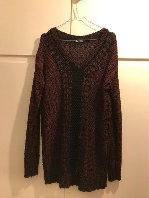 Sparkle & Fade Robe pull noir-bordeau coton