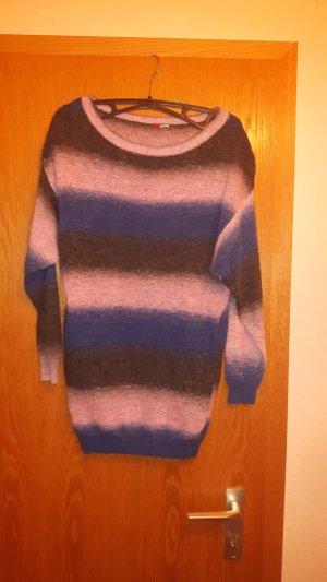 Langer Pullover 3-farbig