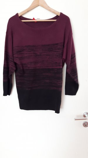 Langer Pullover in Lila