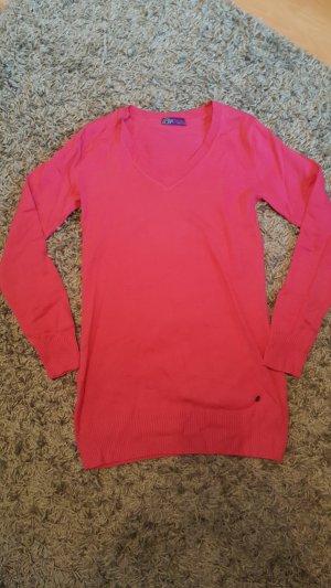 Langer Pullover in Pink