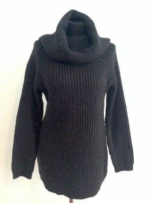 Langer Pullover/ Strickkleid mit großem Kragen von Gina Tricot, Gr. M (38/40)