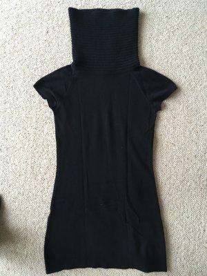 Langer Pullover/ Strickkleid mit Schalkragen