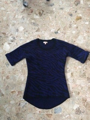 Gharani Strok Short Sleeve Sweater black-dark violet mixture fibre