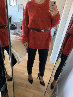 Zara Jersey holgados rojo oscuro