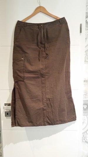 Bamboo Falda marrón-rojo oscuro