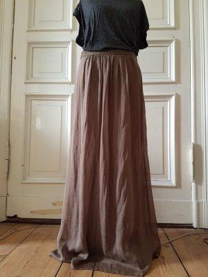 Hallhuber Maxi Skirt beige silk