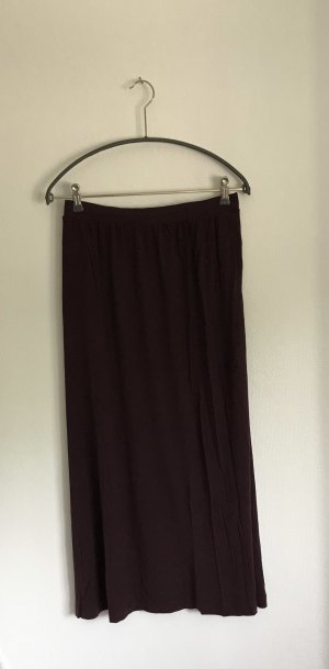 H&M Maxi Skirt brown violet-blackberry-red