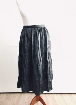 Maxi Skirt dark grey-silver-colored