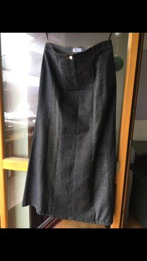Langer Rock Jeans materialmix - Langgröße