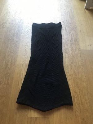 Zara Knit Falda larga negro
