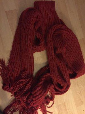 Hallhuber Woolen Scarf dark red